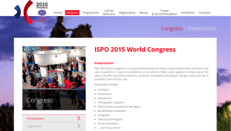 BRACE GBW Scoliosis di ISPO 2015, Lyon, Prancis